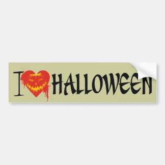 I Love Halloween Car Bumper Sticker