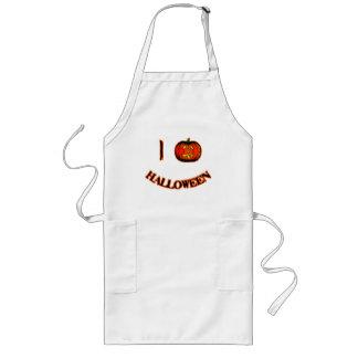 I Love Halloween Cute Halloween T-shirt Long Apron