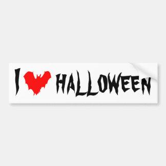 I Love Halloween funny customizable Bumper Sticker