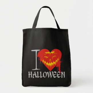 I Love Halloween Grocery Tote Bag