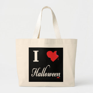 I love HALLOWEEN Large Tote Bag