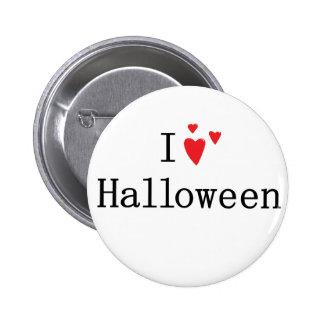 I Love Halloween Pinback Buttons