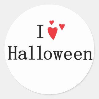 I love Halloween Round Sticker