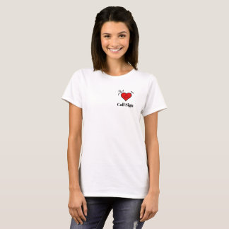 I Love Ham Radio Heart  T-shirt