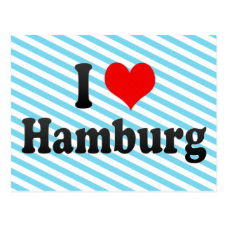 I Love Hamburg, Germany Postcard
