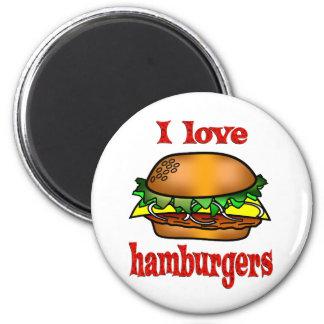 I Love Hamburgers 6 Cm Round Magnet