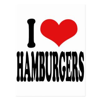 I Love Hamburgers Postcard