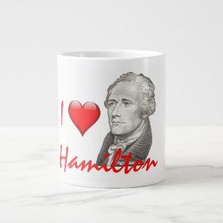 """I Love Hamilton"" Alexander Hamilton Portrait Large Coffee Mug"
