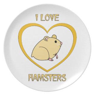 I Love Hamsters Plate