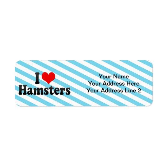 I Love Hamsters Return Address Label