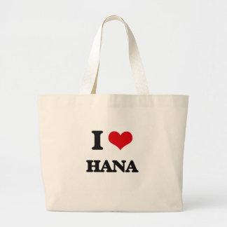 I Love Hana Jumbo Tote Bag