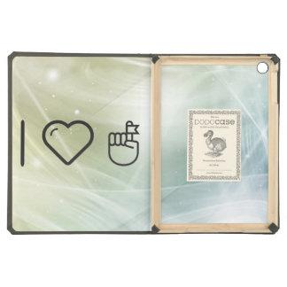 I Love Hand Flags iPad Air Cases