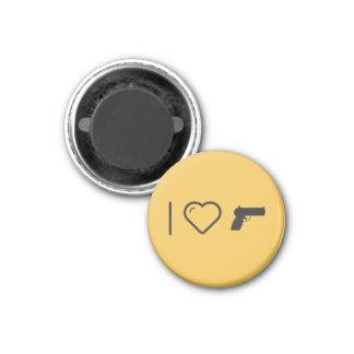 I Love Hand Guns 3 Cm Round Magnet