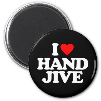 I LOVE HAND JIVE 6 CM ROUND MAGNET