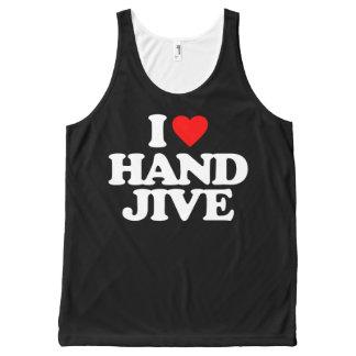 I LOVE HAND JIVE All-Over PRINT TANK TOP