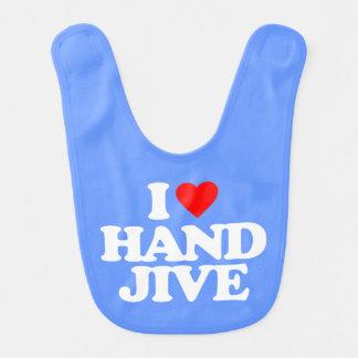 I LOVE HAND JIVE BIB