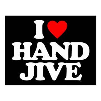 I LOVE HAND JIVE POSTCARD