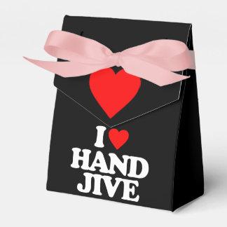 I LOVE HAND JIVE WEDDING FAVOUR BOX