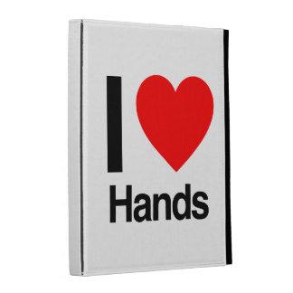 i love hands iPad folio cover