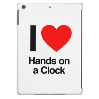 i love hands on a clock iPad air cases