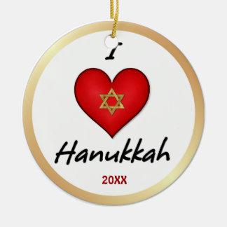 I Love Hanukkah Ornaments
