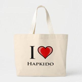 I Love Hapkido Jumbo Tote Bag