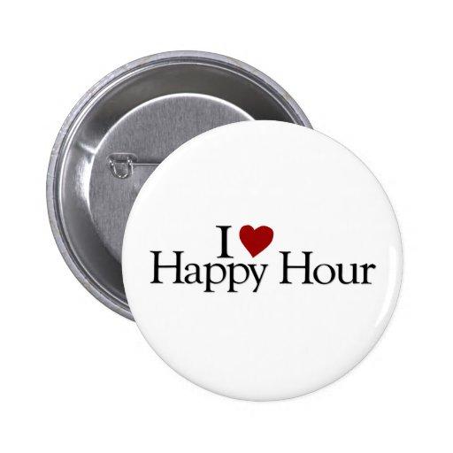 I Love Happy Hour Pins