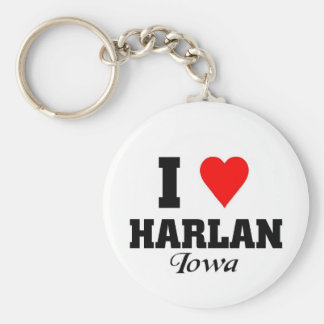 I love Harlan, Iowa Key Ring