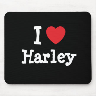 I love Harley heart custom personalized Mouse Mat