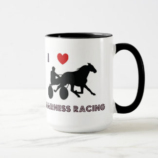 I Love Harness Racing Mug