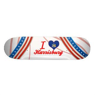 I Love Harrisburg, New York Custom Skate Board