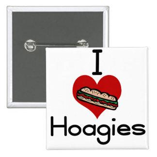 I love-hate hoagies 15 cm square badge