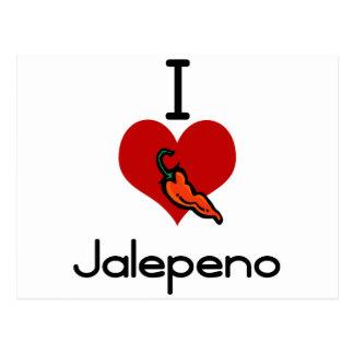 I love-hate jalepeno postcards