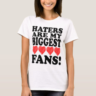 I Love Haters Art Heart Cool Funny Remix T Shirt