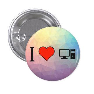 I Love Having My Personal Computer 3 Cm Round Badge