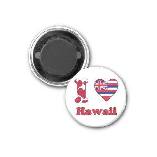 I love Hawaii 3 Cm Round Magnet