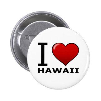 I LOVE HAWAII 6 CM ROUND BADGE