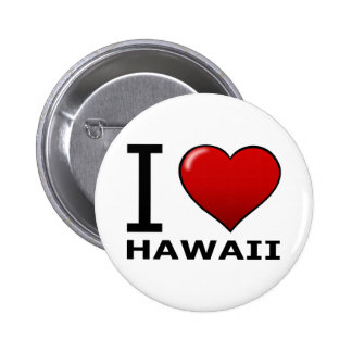 I LOVE HAWAII 6 CM ROUND BADGE