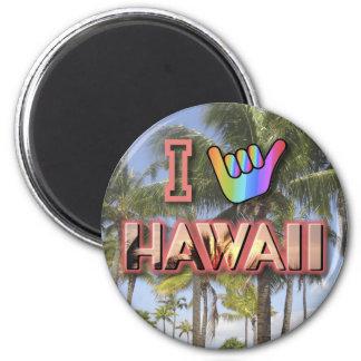 I Love Hawaii 6 Cm Round Magnet