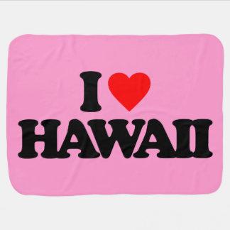I LOVE HAWAII BABY BLANKET