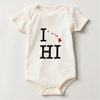 I Love Hawaii Baby Bodysuit