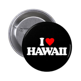 I LOVE HAWAII BUTTONS