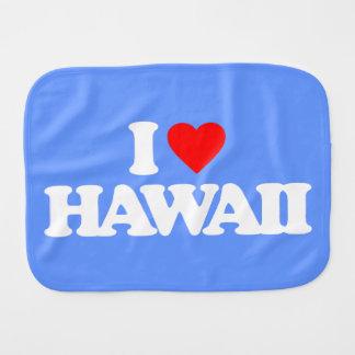 I LOVE HAWAII BABY BURP CLOTHS