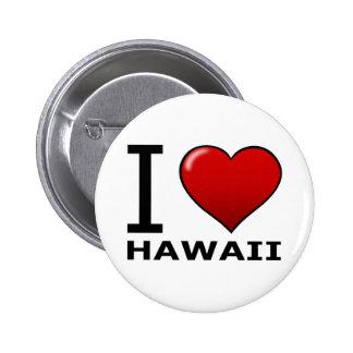 I LOVE HAWAII BUTTON