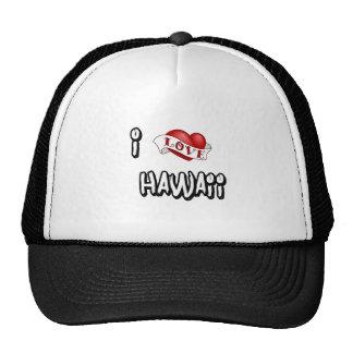 I Love Hawaii Trucker Hats
