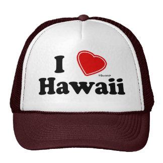 I Love Hawaii Cap
