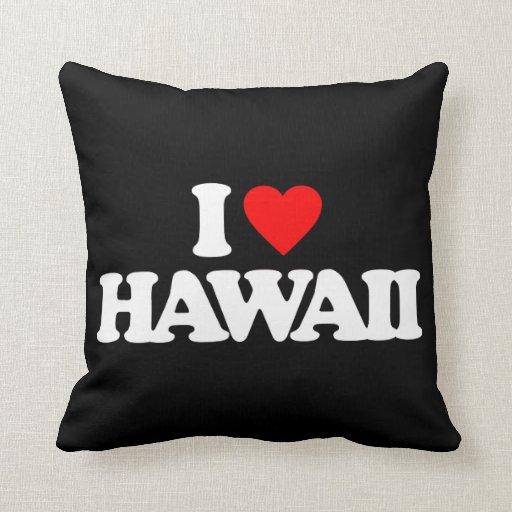 I LOVE HAWAII PILLOW