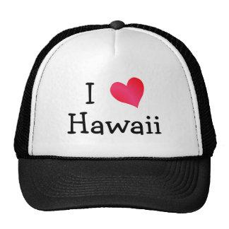 I Love Hawaii Mesh Hats