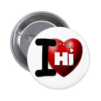 I Love Hawaii - I Heart Hawaii Button