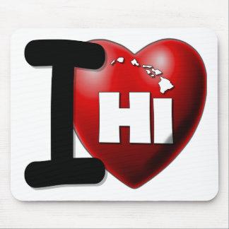 I Love Hawaii - I Heart Hawaii Mousepad
